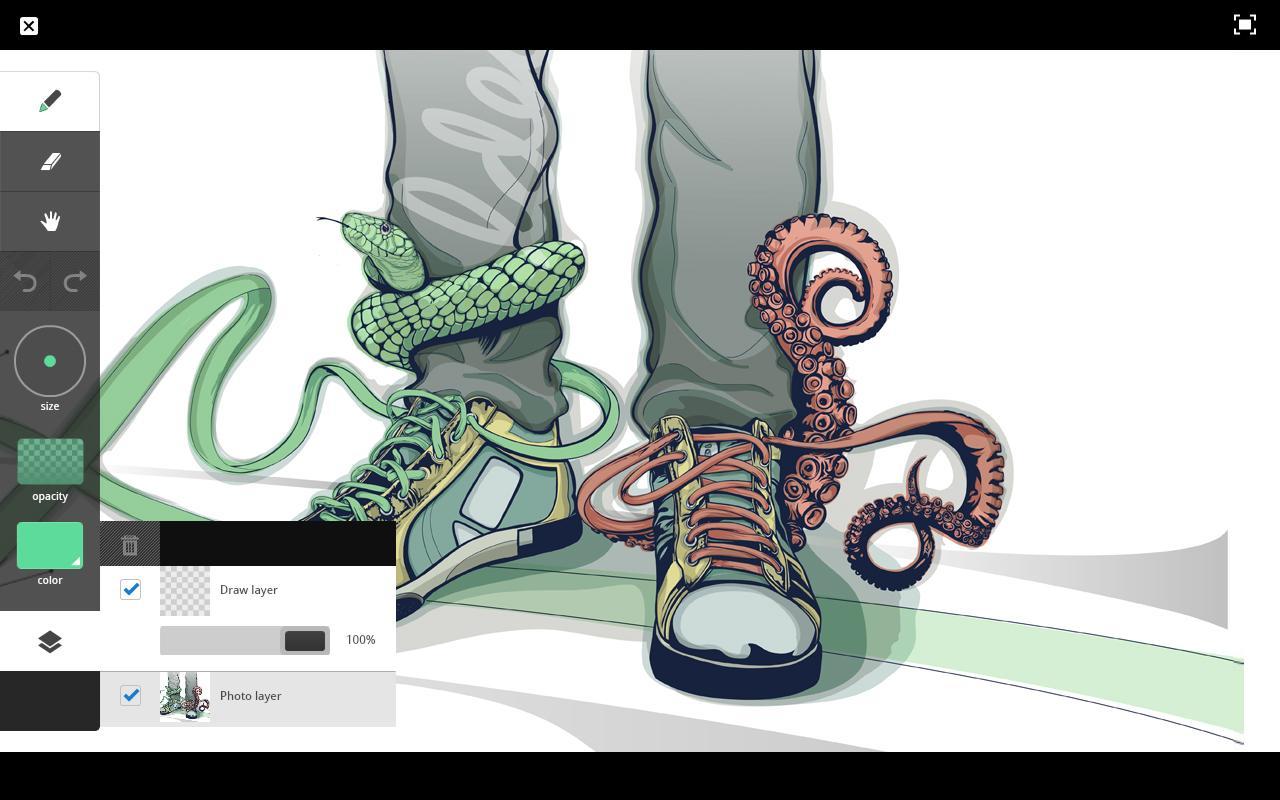 Vector Drawing Lines App : Мобилни приложения за графични дизайнери