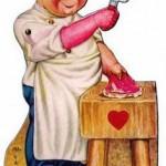 Ретро картичка за Свети Валентин