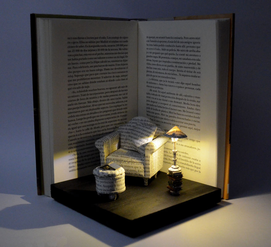 A-corner-to-relax-Book-Sculpture