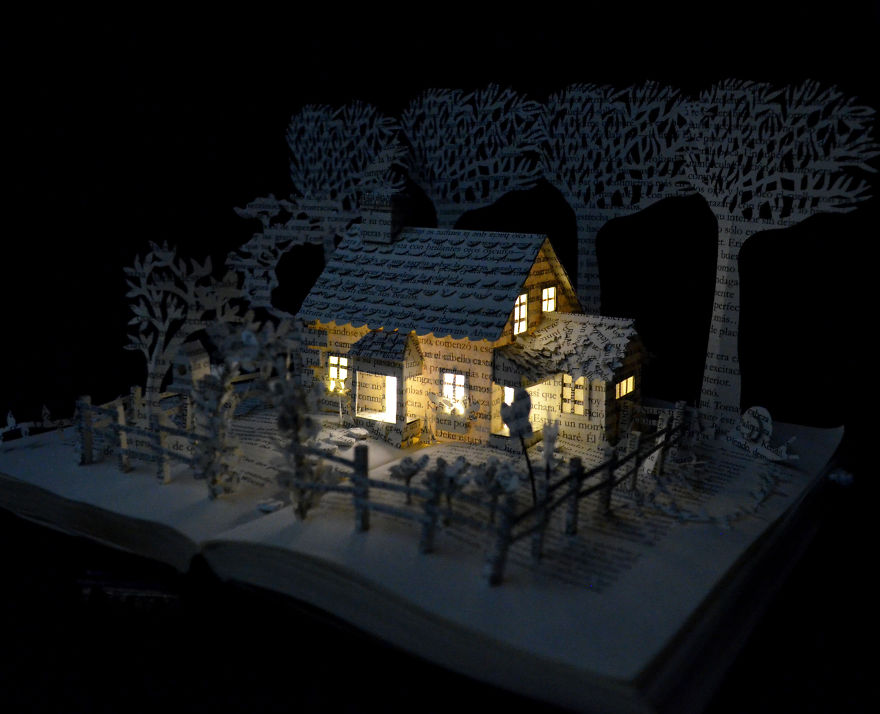 House-in-a-Field-Book-Sculpture