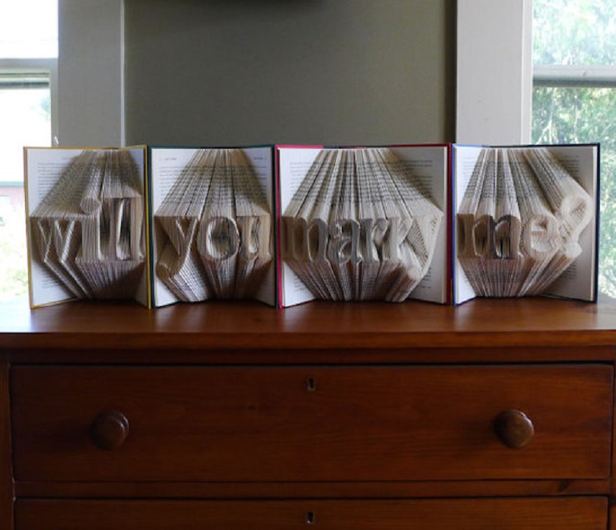 EXTRAORDINARY FOLDED BOOK SCULPTURES