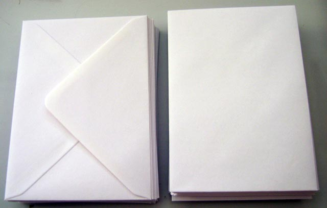 50 C5 white envelopes