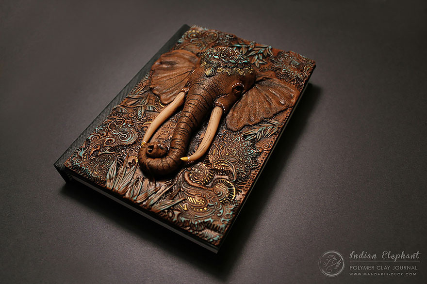 elephant1-polymer-clay-book-covers-my-aniko-kolesnikova