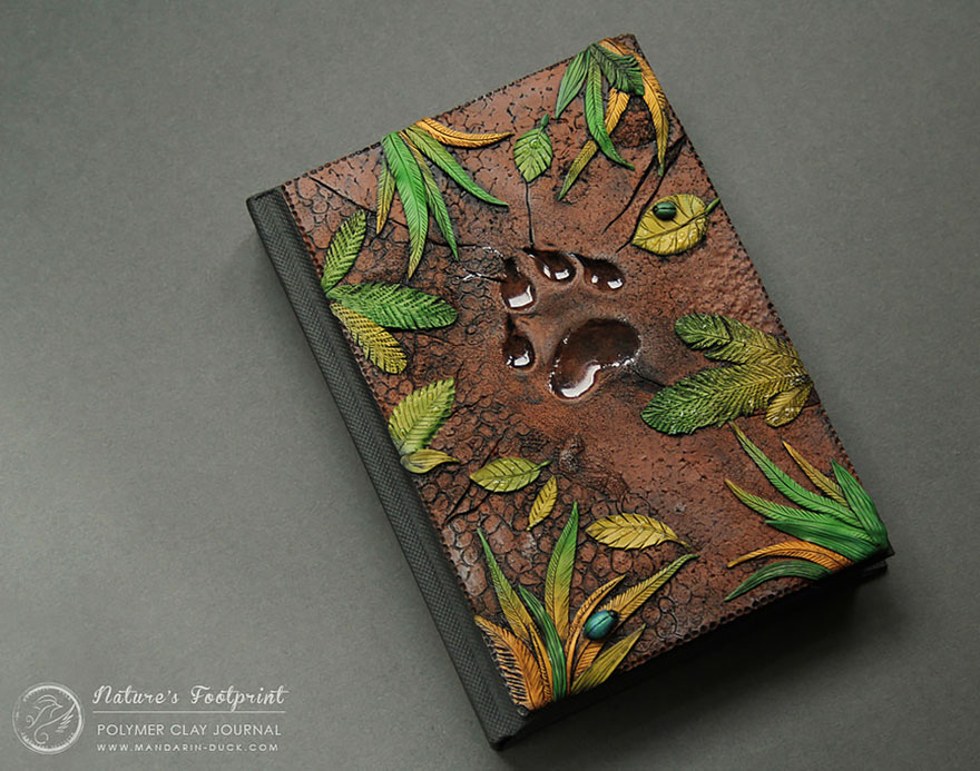 footprint1-polymer-clay-book-covers-my-aniko-kolesnikova