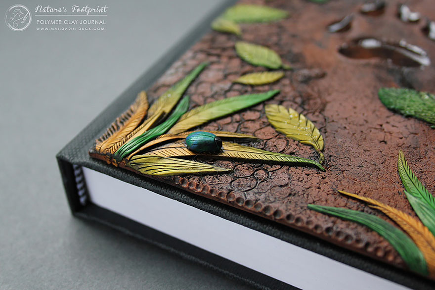 footprint2-polymer-clay-book-covers-my-aniko-kolesnikova