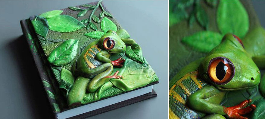 frog-polymer-clay-book-covers-my-aniko-kolesnikova