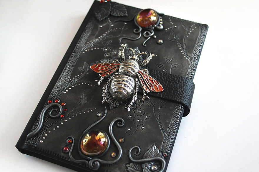 insect-polymer-clay-book-covers-my-aniko-kolesnikova
