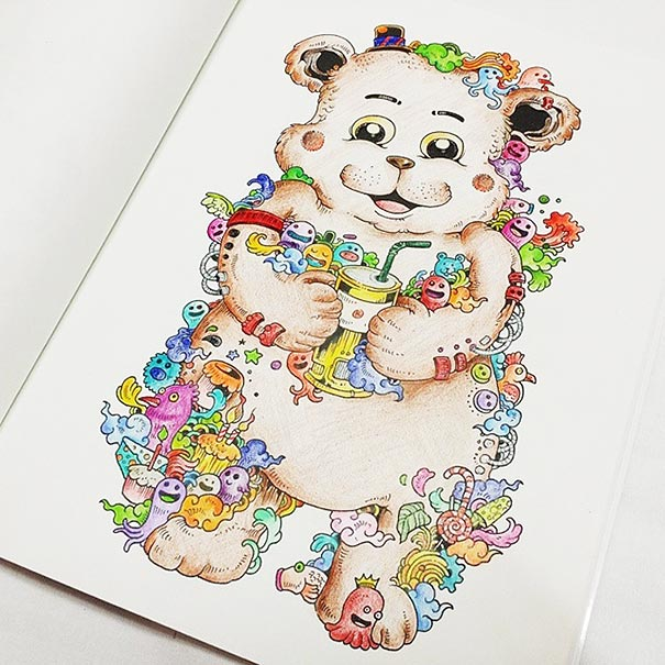 coloring-book-adult-doodle-invasion-kerby-rosanes-1